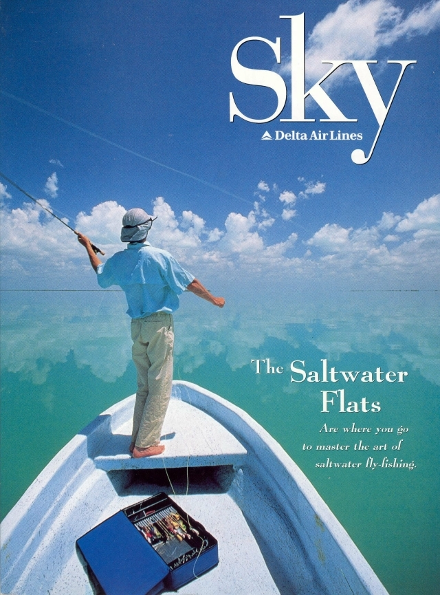 Fishing Delta Airlines Magazine Cover Image