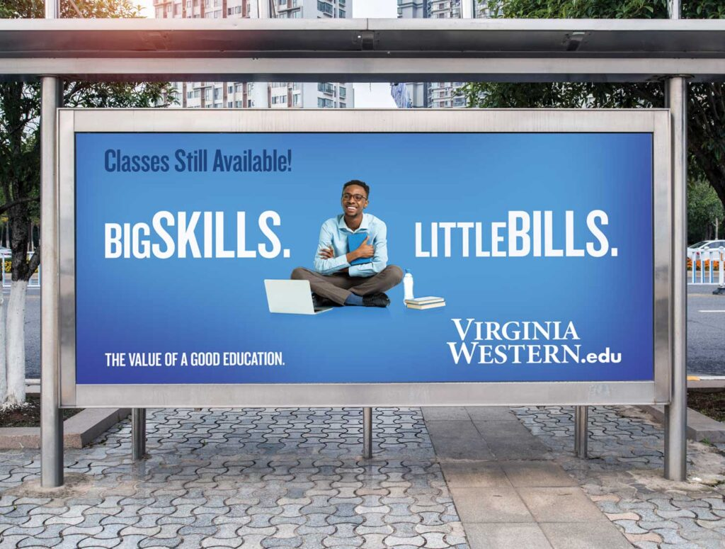 virginia western community college big skills billboard