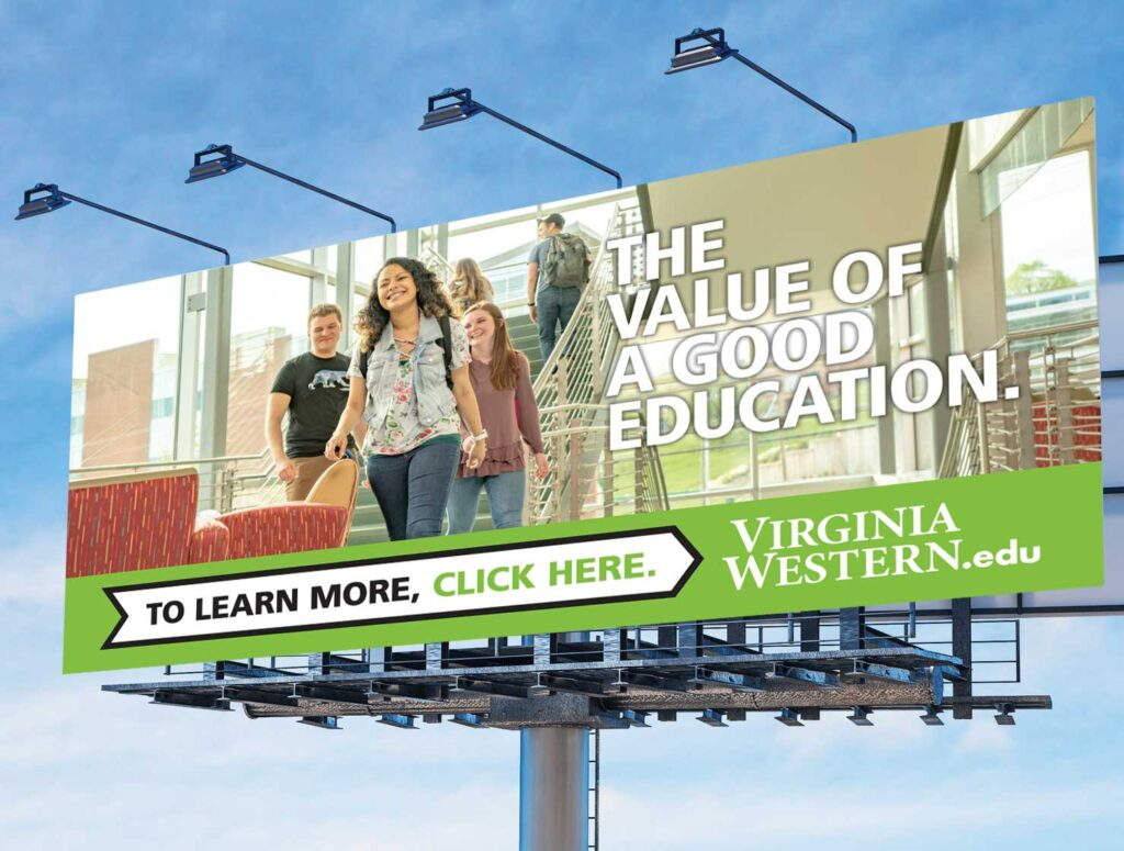 virginia western community college value billboard